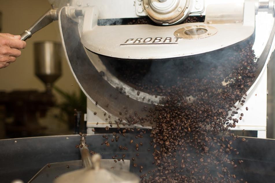 Das Aroma von guten Kaffeebohnen